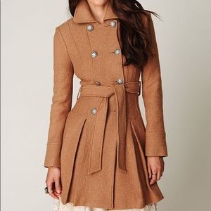 Free People Double Breasted Wool Coat